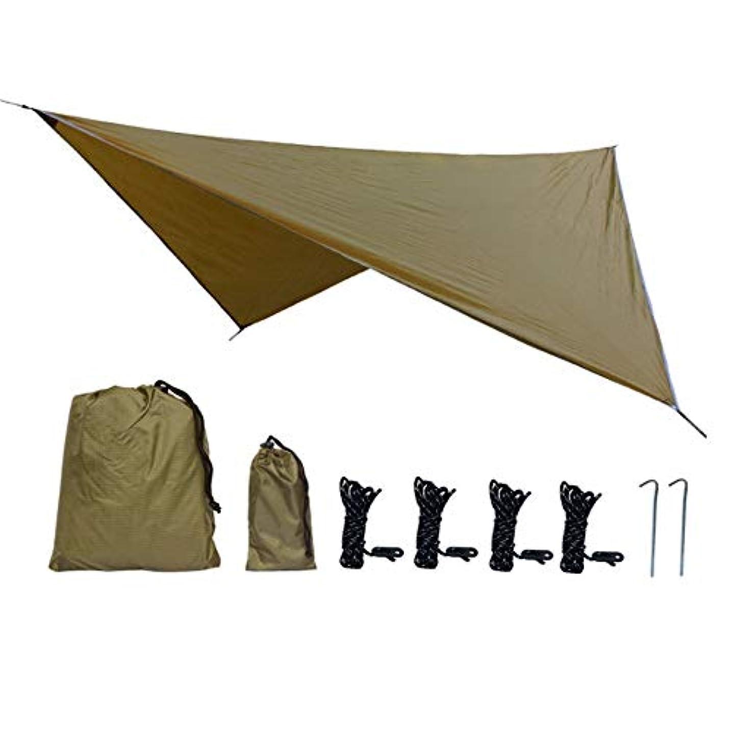 どうやら警報発見Sun-happyyaa 多機能防水ハンモックキャンプテント11.8×9.5フィート防水デザインuv保護家族の集まり屋外旅行 購入へようこそ (色 : Camel, サイズ : Free size)