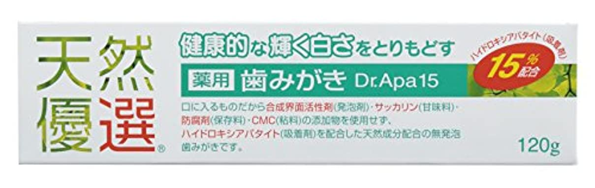 柔らかさ禁じるカイウス天然優選 薬用歯みがき Dr.Apa15 120g