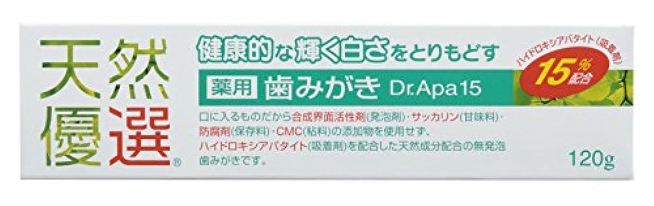 紛争承認葉を集める天然優選 薬用歯みがき Dr.Apa15 120g