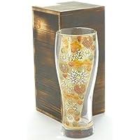 九谷焼+Glass ビアカップ 金花詰 ~ガラスへの展開~ 石川ブランド受賞製品