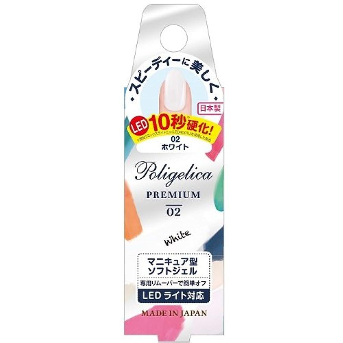 残る精緻化眠りBW ポリジェリカプレミアム カラージェル 1002/ホワイト (6g)