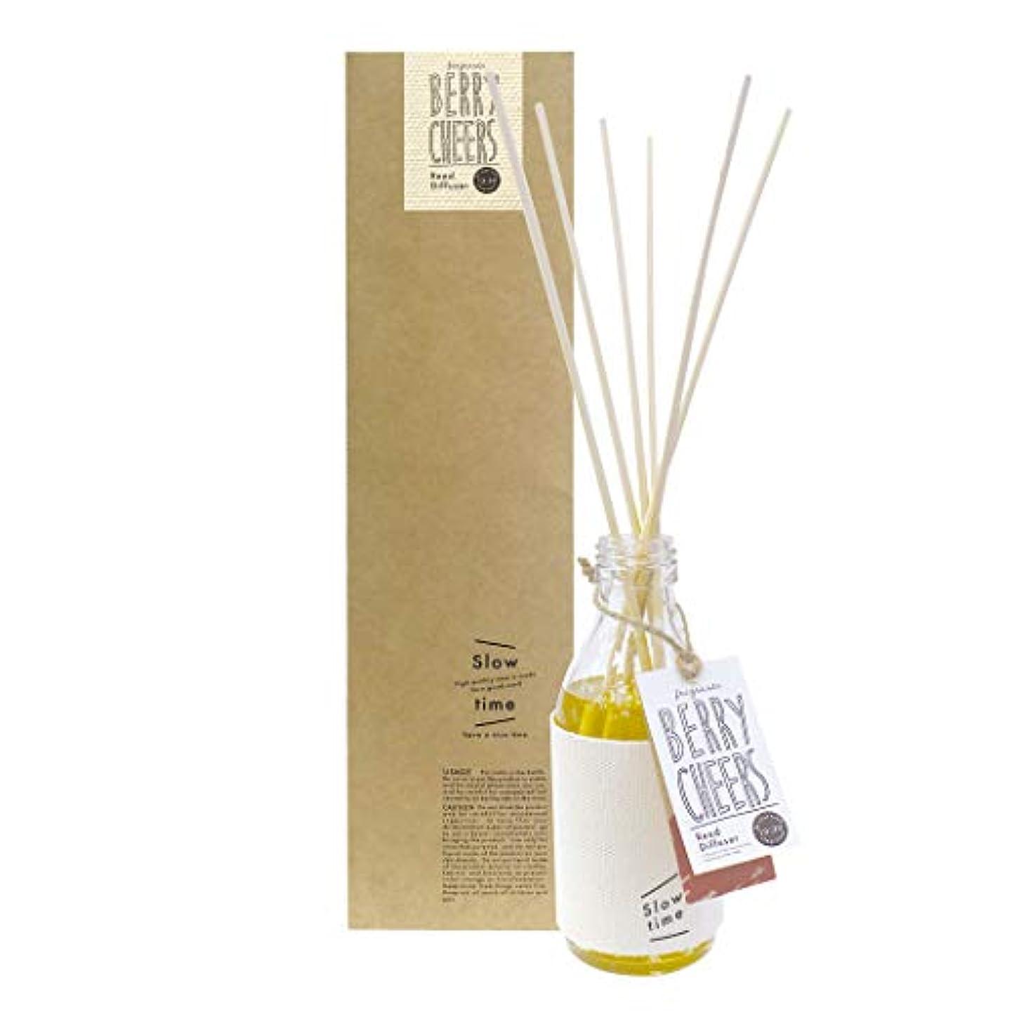 日付付き聖なる直立ノルコーポレーション リードディフューザー スロータイム ベリーチアーズ フルーツの香り 150ml SWT-1-02