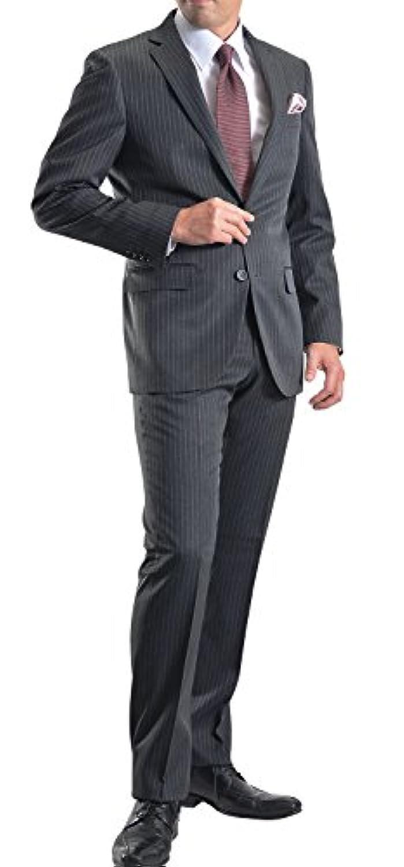 [MARUTOMI] スーツ メンズ 2ツボタン ビジネススーツ スリム ウォッシャブルパンツ 洗えるスラックス 防シワ ナチュラルストレッチ オールシーズン対応 【裾上げテープ?スーツハンガー付属】 AC77