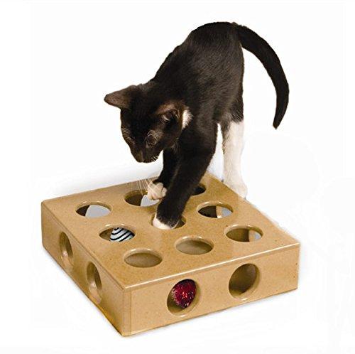TOPSOSO 猫おもちゃ ネズミ箱  猫遊び箱 キャットトイ ペット用品 おまけのネズミとボール 猫の本能を満たす 知恵の鍛え 運動不足とストレスの解消