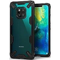 Huawei Mate 20 Pro ケース 対応 Ringke [Fusion-X] 落下衝撃吸収 ストラップホール TPU PC [米軍MIL規格取得] 二重構造 スマホケース 背面クリア (Black/ブラック) Huawei Mate20 Pro ケース