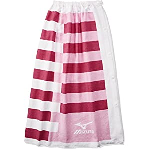 MIZUNO(ミズノ) スイムタオル 巻きタオル N2JY700064 サイズ:L ピンク プール・水泳 学校