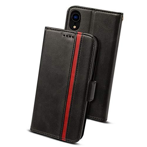 iphone XR ケース 手帳型 アイフォンXR カバー- Rssviss サイドマグネット カード収納 Qi充電対応 横置き機...