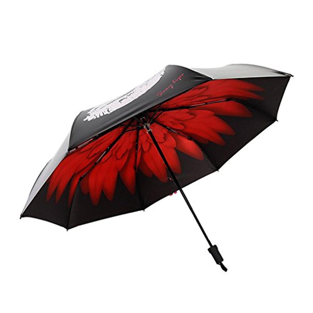 穴クロスわずらわしい防風旅行折りたたみ傘ゴルフ傘キャリングバッグ付き、軽量8リブ自動防風キャノピーコンパクト高速乾燥 (色 : A)