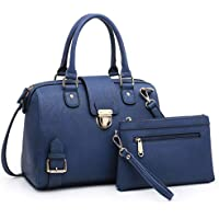 Lady Barrel Designer Satchel Handbags Vegan Leather Structured Purses Shoulder Bags for Women with Shoulder Strap