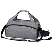Sports Gym Bag with Shoes Compartment,Waterproof Travel Duffel Bag for Men and Women