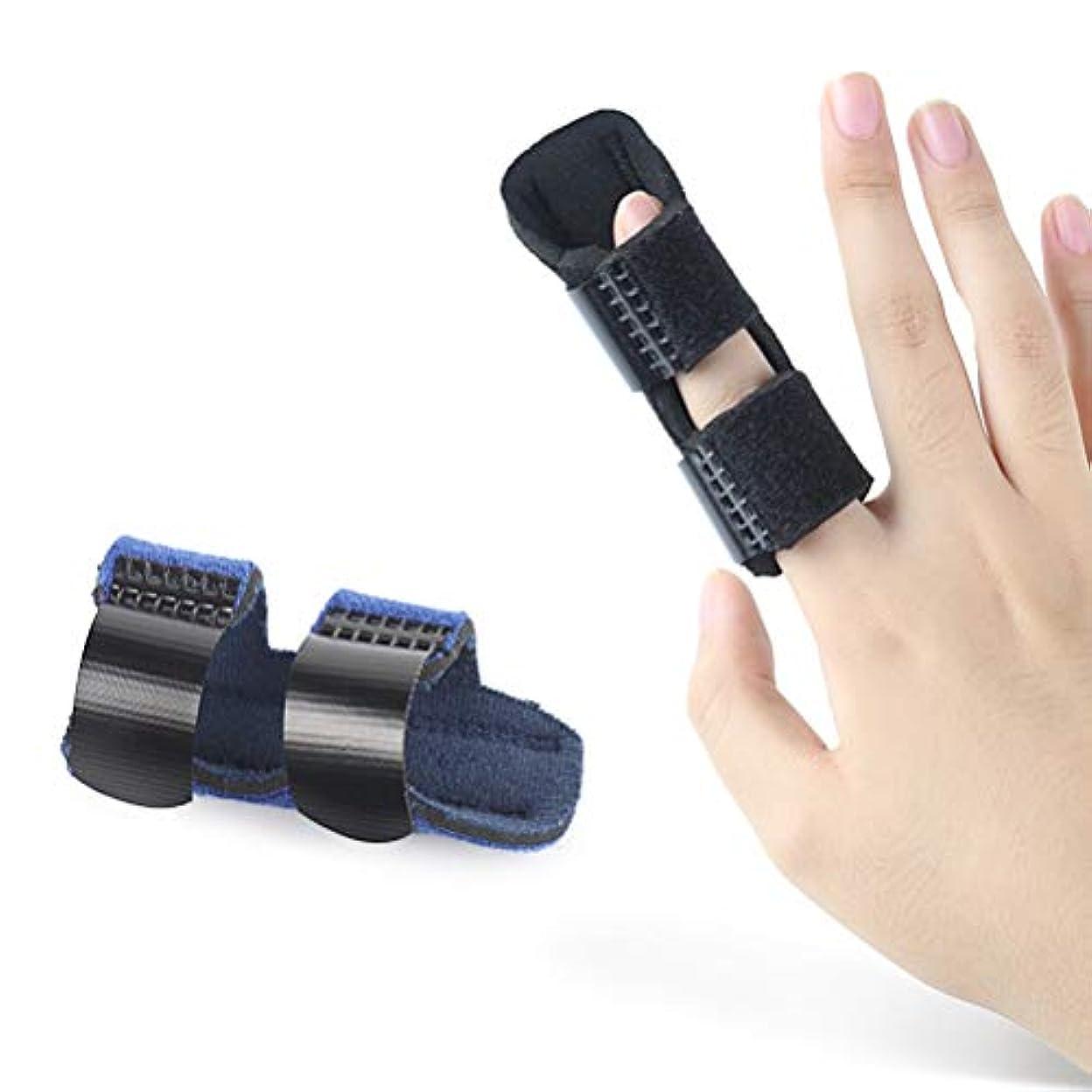 ナチュラルアームストロング簡単なSUPVOX 首サポートブレース 腱鞘炎 バネ指 関節靭帯保護 損傷回復に 手首の親指の痛みを和らげる 1対指スプリントサポート(黒)