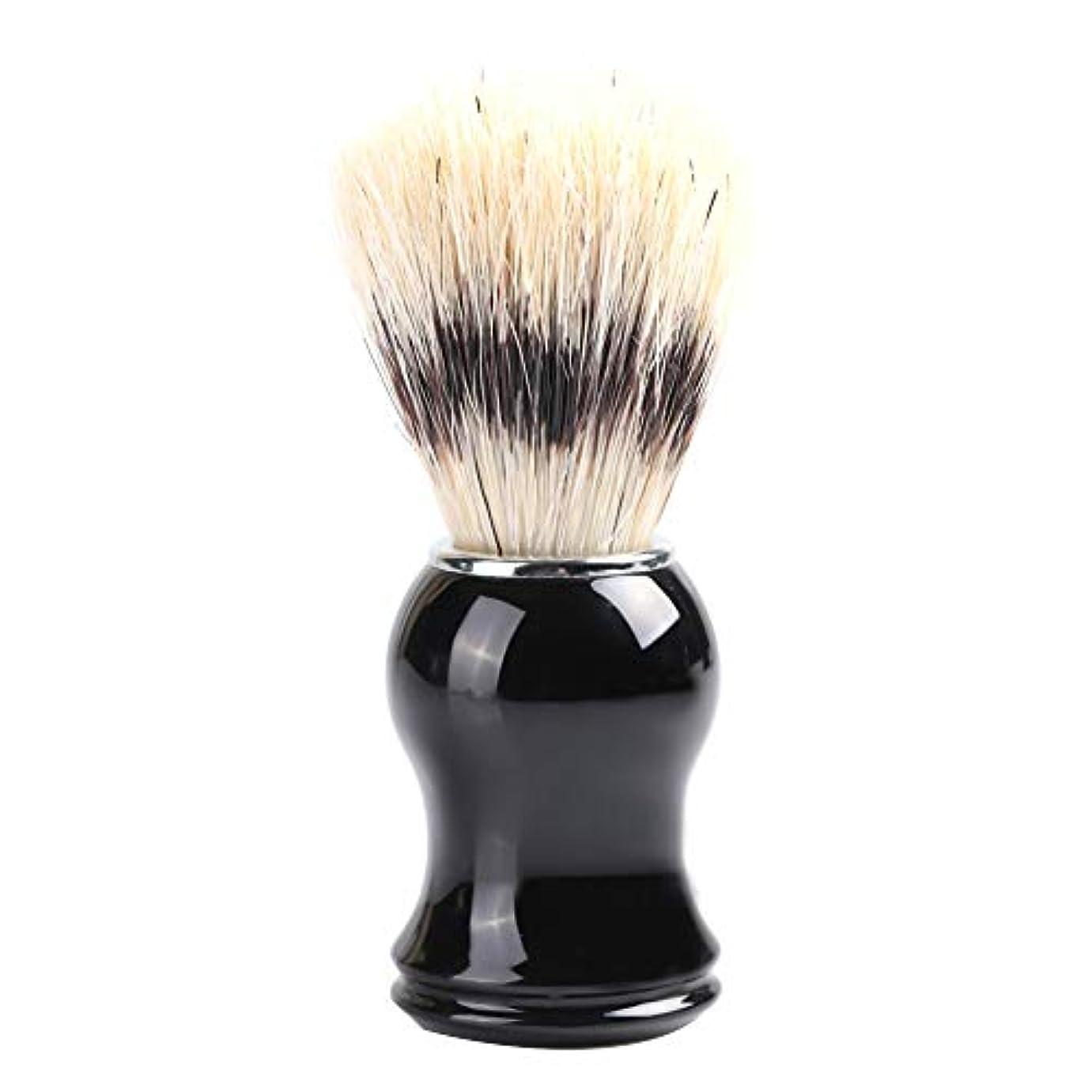 刺激するクラックポットカジュアルひげブラシ 髭剃り メンズ シェービングブラシ 木製コム 毛髭ブラシバッガーヘア シェービングブラシ ポータブルひげ剃り美容(ナイロン)
