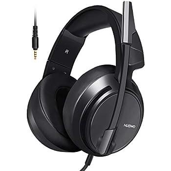Micolindun ゲーミングヘッドセット ヘッドホン ゲームヘッドセット 高音質 ヘッドフォン ゲーム用 密閉型 ノイズキャンセリング マイク付き 遮音 有線 スカイプ ps4 pc FPS スマホなどに対応 N12 ブラック