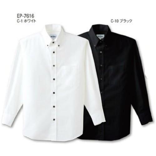 チトセ arbe012(アルベ)EP-7616 ボタンダウンシャツ(長袖)[兼用]サイズ:SS-4Lフードサービスユニフォーム L C-10 ブラック