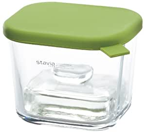 リス『ガラス製漬物用ポット』 ガラスの漬物ポット 角型 グリーン
