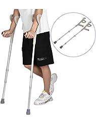 前腕松葉杖、松葉杖サポート脚2つの歩行サポート松葉杖大人のフィット傷害、障害者および高齢者のための調節可能な松葉杖移動性サポート