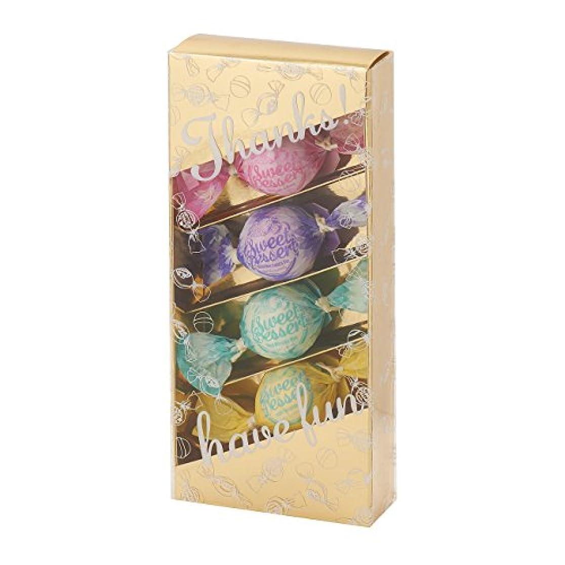 お茶柔らかい進行中アマイワナ バスキャンディー4粒ギフトセット(35g×4個)ゴールド(発泡タイプ入浴料 バスギフト)