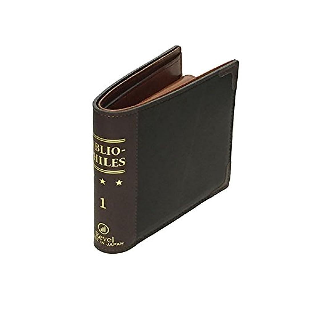 七時半預言者ファッションレヴェル 小銭入れ BIBLIO FOLD WALLET  REVEL   二つ折り財布 カードケース 二つ折り 財布 サイフ ブック型 本 レトロ アンティーク 収納 レザー ブラック