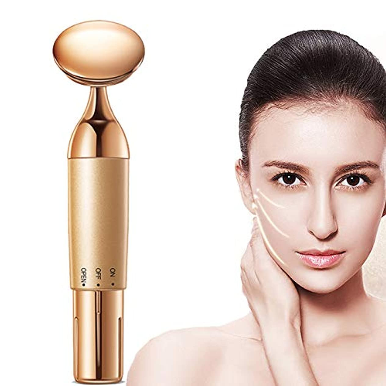 ハブニュース下RF lifting device Facial beauty massager facial lifting firming wrinkle removal eye bags roller