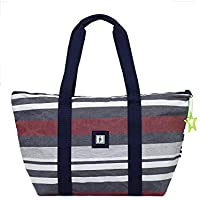 The Lunchbags Women's Weekender Blue-Red-White Striped Bag 60Cm