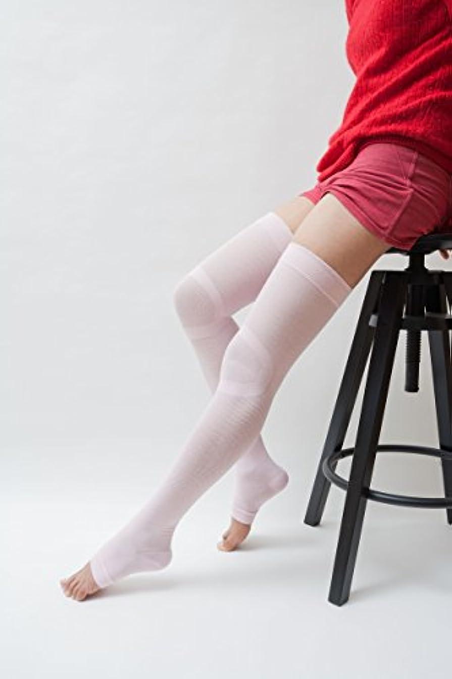 ビスケットペレグリネーションテレビ局おやすみうるるん ニーハイソックスタイプ ピンク 【エコノレッグ】 着圧ソックス