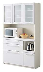 パモウナ 食器棚YC 【幅105×高さ180cm】 YC-S1050R プレーンホワイト