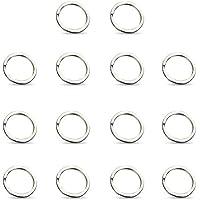 ZHUOTOP 14PCS Key Ring Stainless Steel Key Chains Split Ring Hoop Metal Loop Accessories 25MM