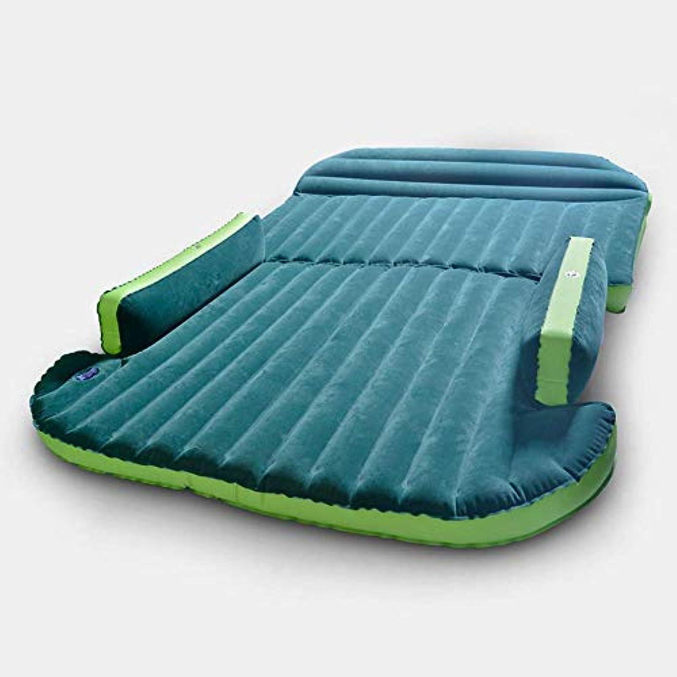 議論する調べる克服する車の膨脹可能なベッドSUVのトランクの緑の折りたたみ膨脹可能なベッド大人の屋外旅行の耐震性の旅行空気ベッドを含む空気ポンプ空気bedcarの膨脹可能な旅行ベッド車の空気ベッドinfl