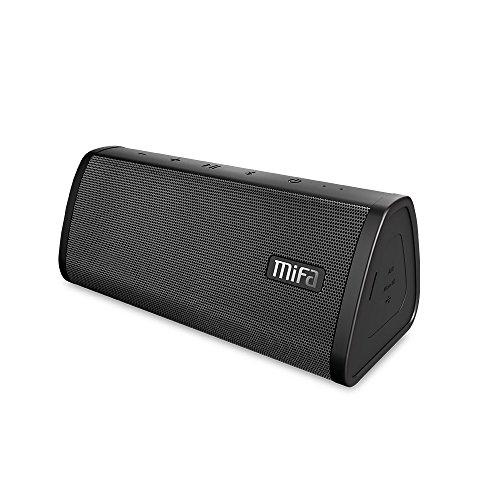 MIFA スピーカーポータブル Bluetooth 4.2 工場直販 デュアルドライバー ハンズフリー通話 Micro SD機能つき ブラック