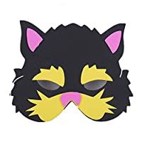 【VEERLIVE】 学芸会 劇 などに キッズ用 ネコの お面 10枚セット [並行輸入品]