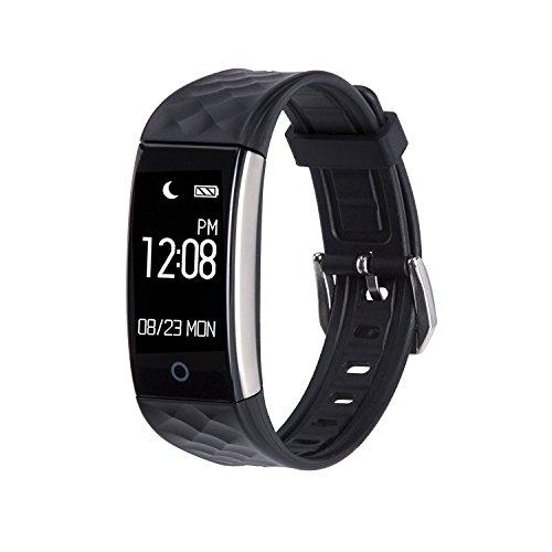 Aandyou スマートウォッチ Bluetooth 4.0 Smartwatch スマートブレスレット 日本語APP/Android /IOS対応 SW02 (ブラック)