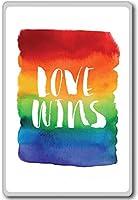 Love Wins Rainbow - motivational inspirational quotes fridge magnet - ?????????