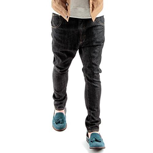 (ラフタス)Rafftas ワンウォッシュ ストレッチ スキニー サルエル デニム パンツ L サイズ ブラック メンズジーンズ メンズパンツ
