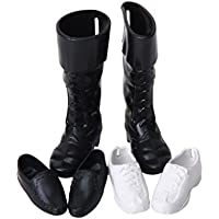 SONONIA ドール用 人形用 3ペア靴 ブーツ シューズ ファッション アクセサリー 1/6スケール 王子用