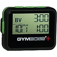 Gymboss PLUS インターバルタイマー & ストップウォッチ - ブラック/グリーン ソフトコート