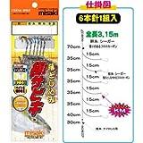 misaki(ミサキ) 極サビキ 6本針1組 15-12-14