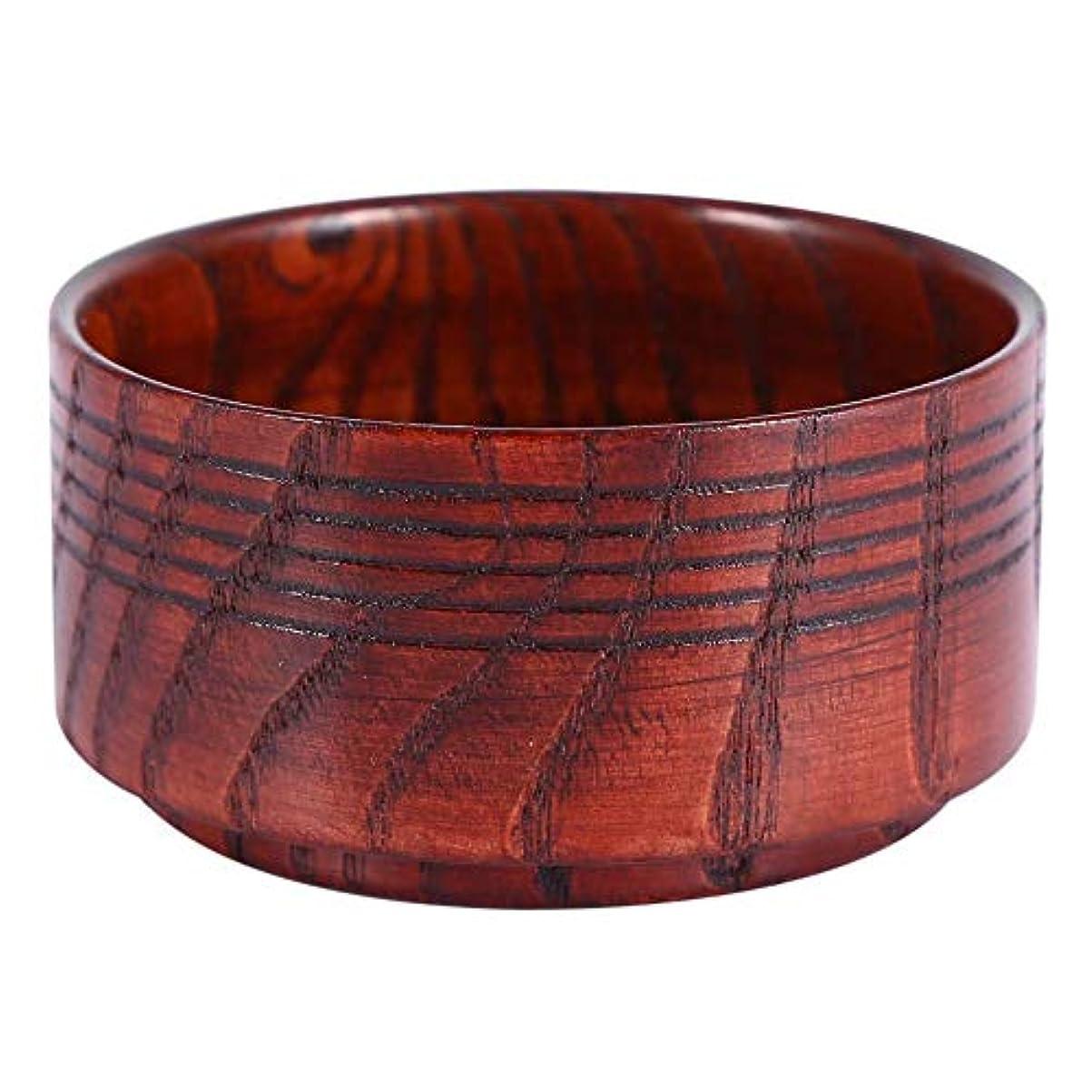 モックご注意連続的Qinlorgo シェービングボウル 木製ソープボウル シェービングマグ ソープボウル 木製マグ 男性用シェーブボウル