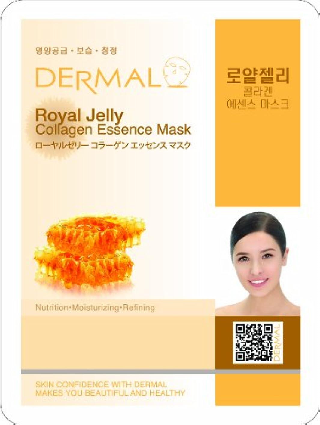 保守的表向き肌【DERMAL】ダーマル シートマスク ローヤルゼリー 10枚セット/保湿/フェイスマスク/フェイスパック/マスクパック/韓国コスメ [メール便]