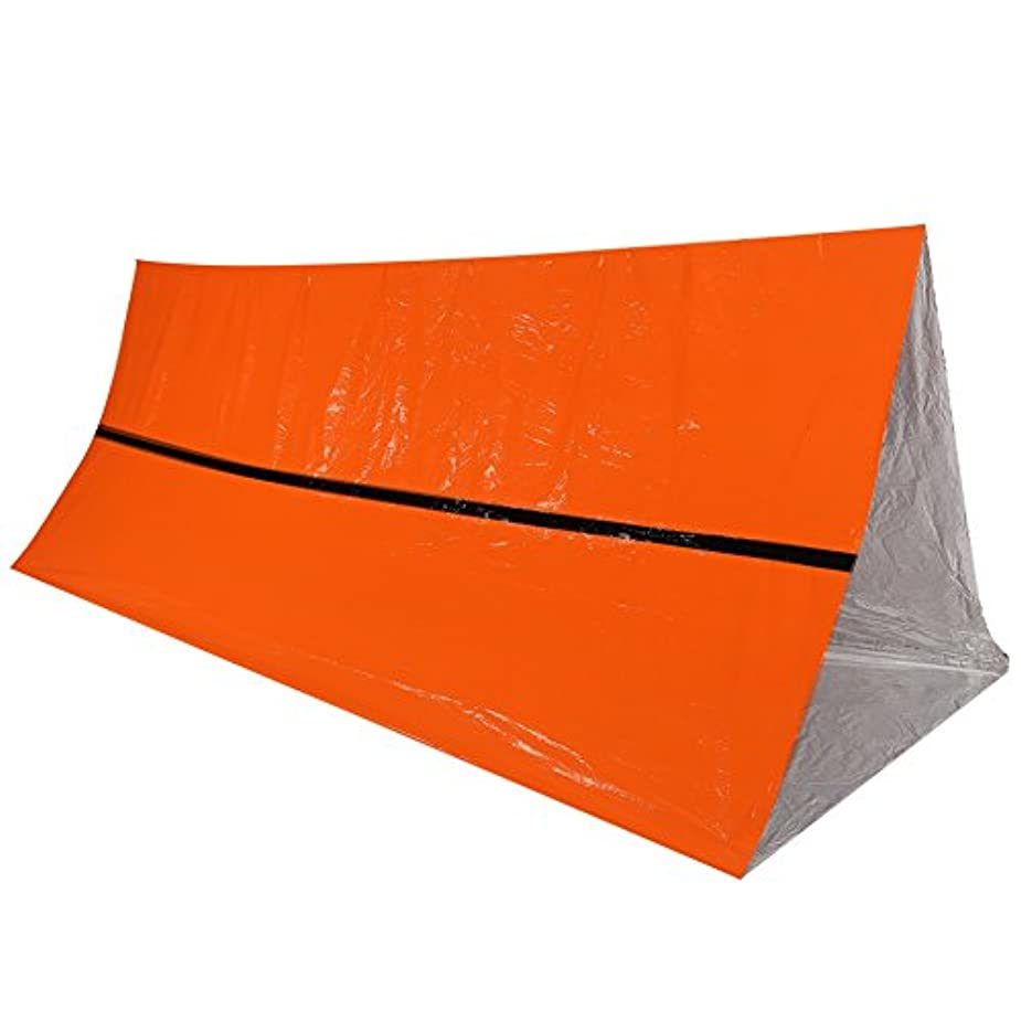 ブラケットどのくらいの頻度でバケットAsixx エマージェンシーテント サバイバルシート 簡易テント 折りたたみ 防水 軽量 アウトドア キャンプ 防災 緊急用 防寒保温 体温維持 明るい色 オレンジ