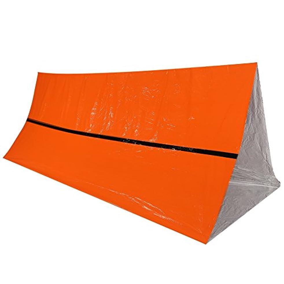 実際把握流体dilweサバイバルテント、アウトドア防水熱毛布Emergency Rescue Shelter折りたたみ式ミリタリーサバイバルテント
