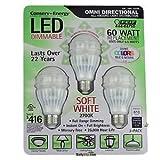 (フェイト・エレクトリック) Feit Electric–60ワット交換–全指向性–LED調光機能付き–3個パック(144799) 144799