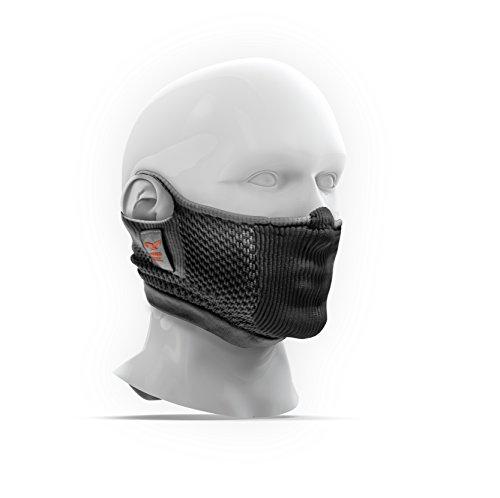 NAROO MASK F5s(ナルーマスク) 花粉対応スポーツ用フェイスマスク (グレー)