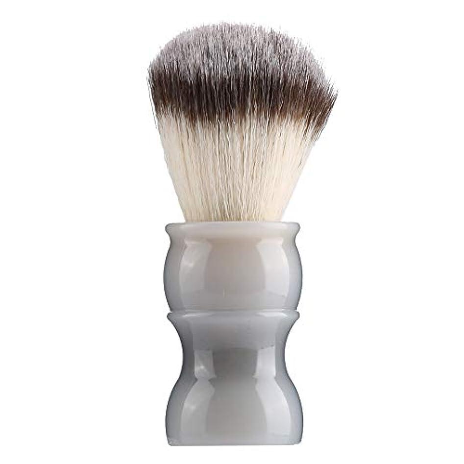 無謀バージンクライアント専門の手動ひげの剃るブラシ、密集したナイロン毛のきれいな人の口ひげのブラシ家および旅行のための携帯用メンズひげのブラシ(#4)