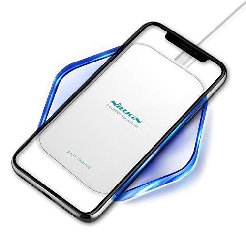 NILLKIN 急速 ワイヤレス充電器 Qi認証済み 超薄型ポータブル先進スマート7.5W / 10Wワイヤレス充電器 LED...