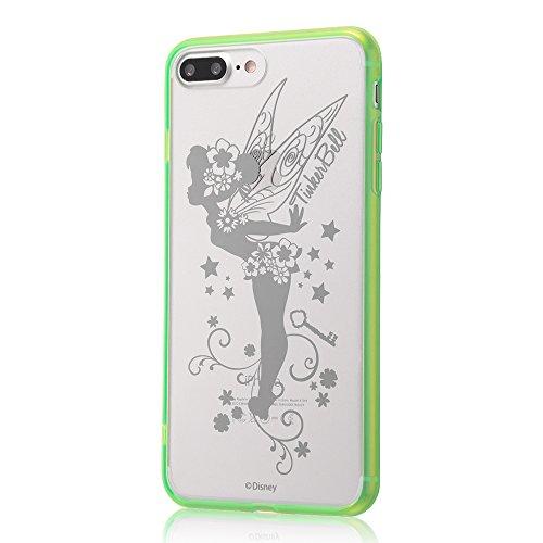 レイ・アウト iPhone7 Plus ケース ディズニー ハイブリッドケース(TPU +ポリカーボネイト) ストラップホール/ティンカーベル RT-DP13U/TB