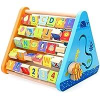 QXMEI 子供用 おもちゃ 子供用 組み立てブロック 早期教育パズル 多目的 学習スタンド 学習玩具 製品サイズ: 11.2 9.6 9.4インチ