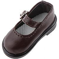 SONONIA 1/6 BJD SD DOD ドルフィー 人形の靴 2足 PUレザー シューズ アクセサリー プレゼント 全5色選べ - コーヒー