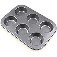 Pichidr マフィン型 6個取り ハイクリーンコート マフィンパン ミニマフィン天板 カップケーキ お菓子作り型 家庭用オープンサイズ