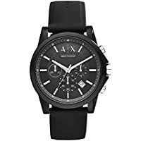ARMANI EXCHANGE Mens AX1326 Year-Round Chronograph Quartz Black Watch