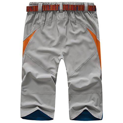 SemiAugust(セミオーガスト)メンズ 吸汗速乾パンツ カジュアルパンツ 運動用 登山用 快適 フィットネス カラーはグレー サイズは2XL